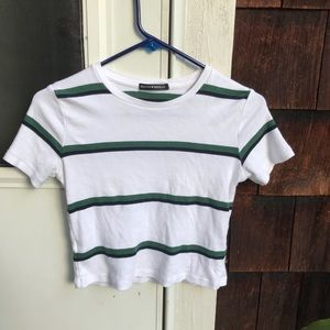 Brandy Melville Striped Helen Tee